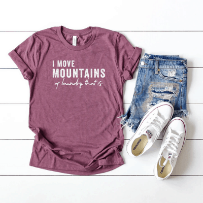 mountains of laundry tee