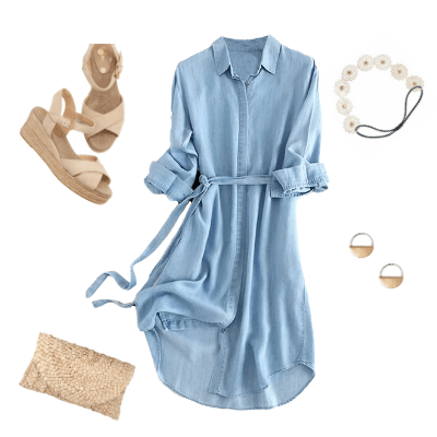 casual chambray spring dress