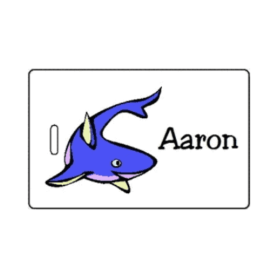 luggage tag for non-candy Easter egg filler idea