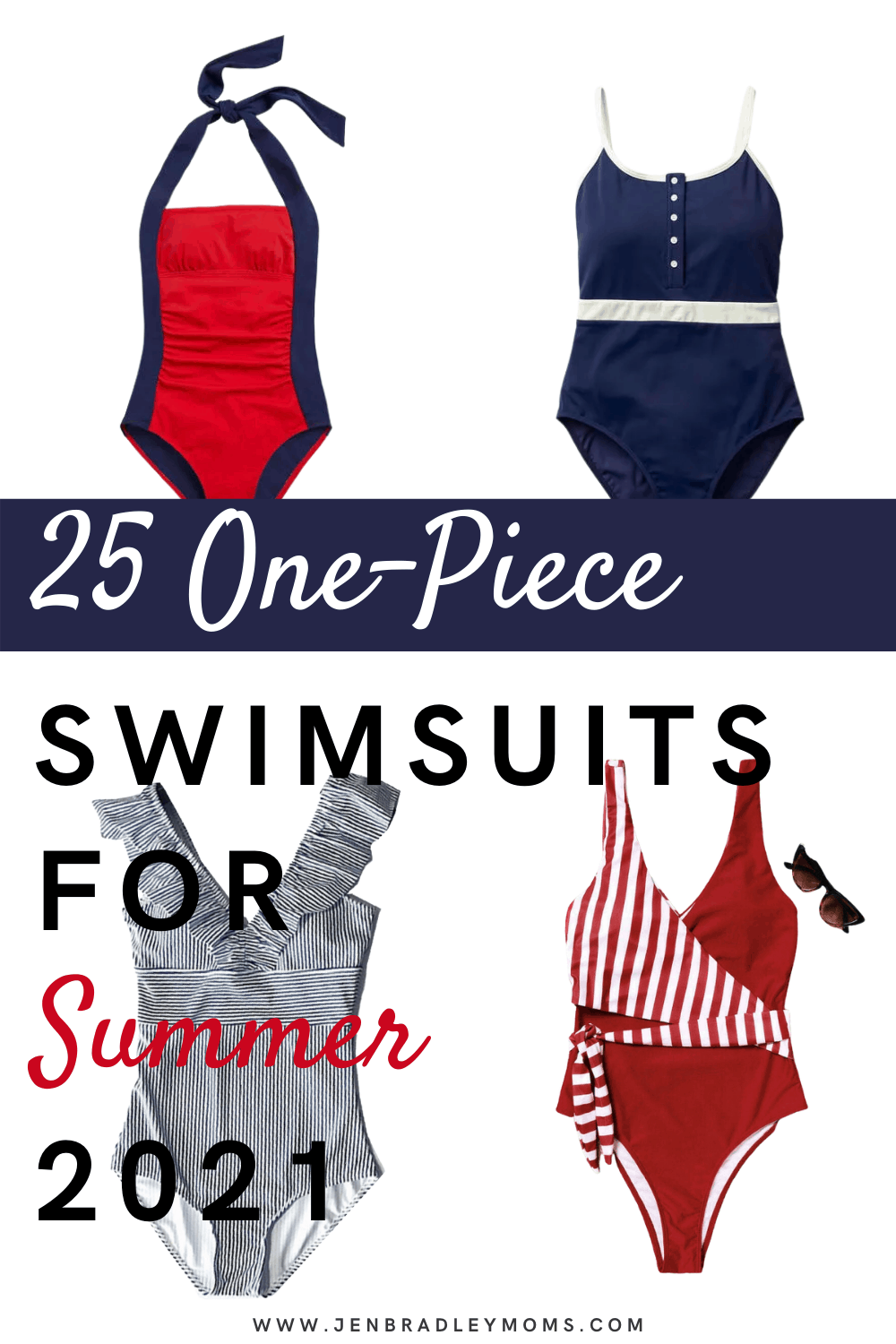 25 Cute One-Piece Modest Swimsuits for Moms in 2021