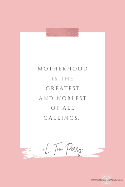 motherhood is a calling