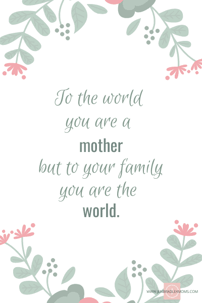importance of mother quote