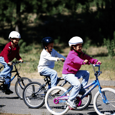 a bike parade is a favorite patriotic activities for kids