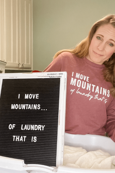 Letter board quote laundry