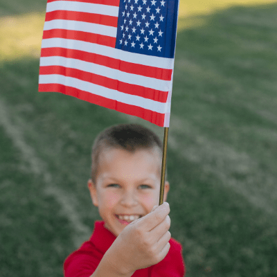 flag relay race is a great patriotic activity for kids