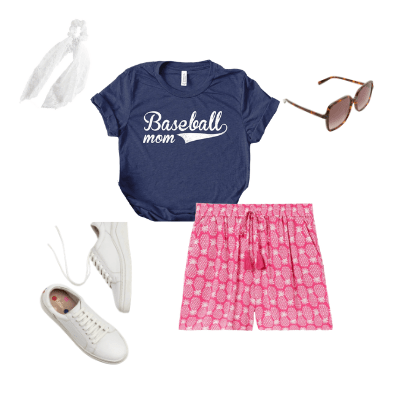pattern shorts outfit 1
