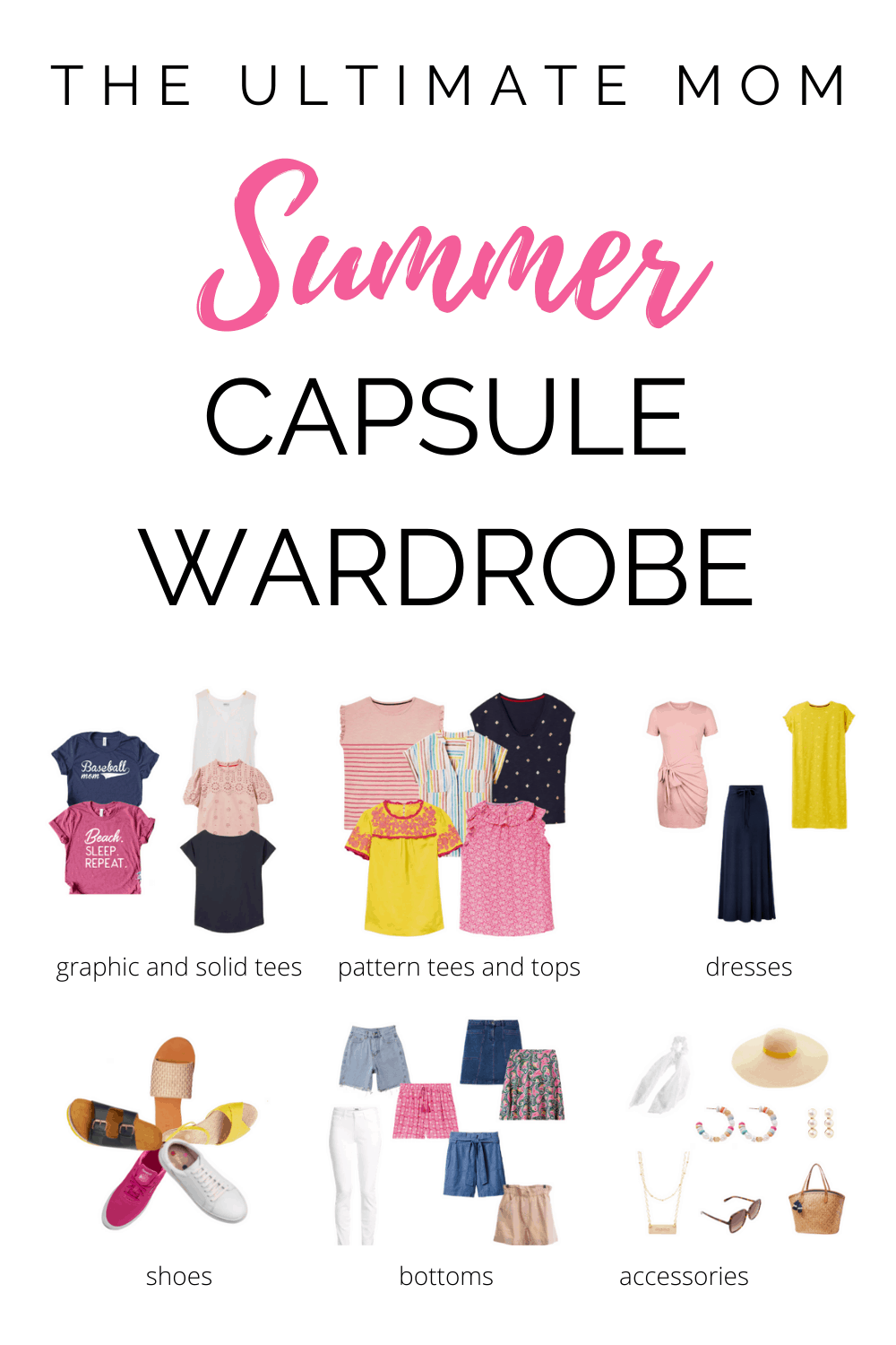 31 Piece Bright and Comfy Summer Capsule Wardrobe for 2021