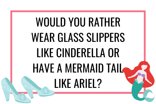 glass slippers or mermaid tail