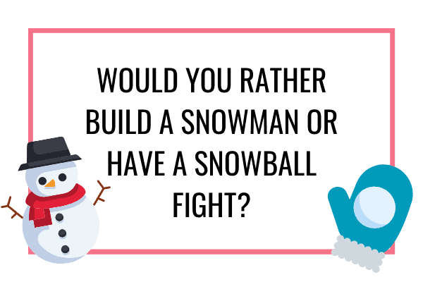 snowman or snowball fight