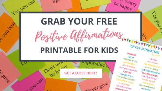 free printable positive affirmations for kids