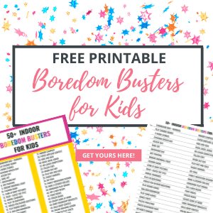 free boredom busters for kids printable