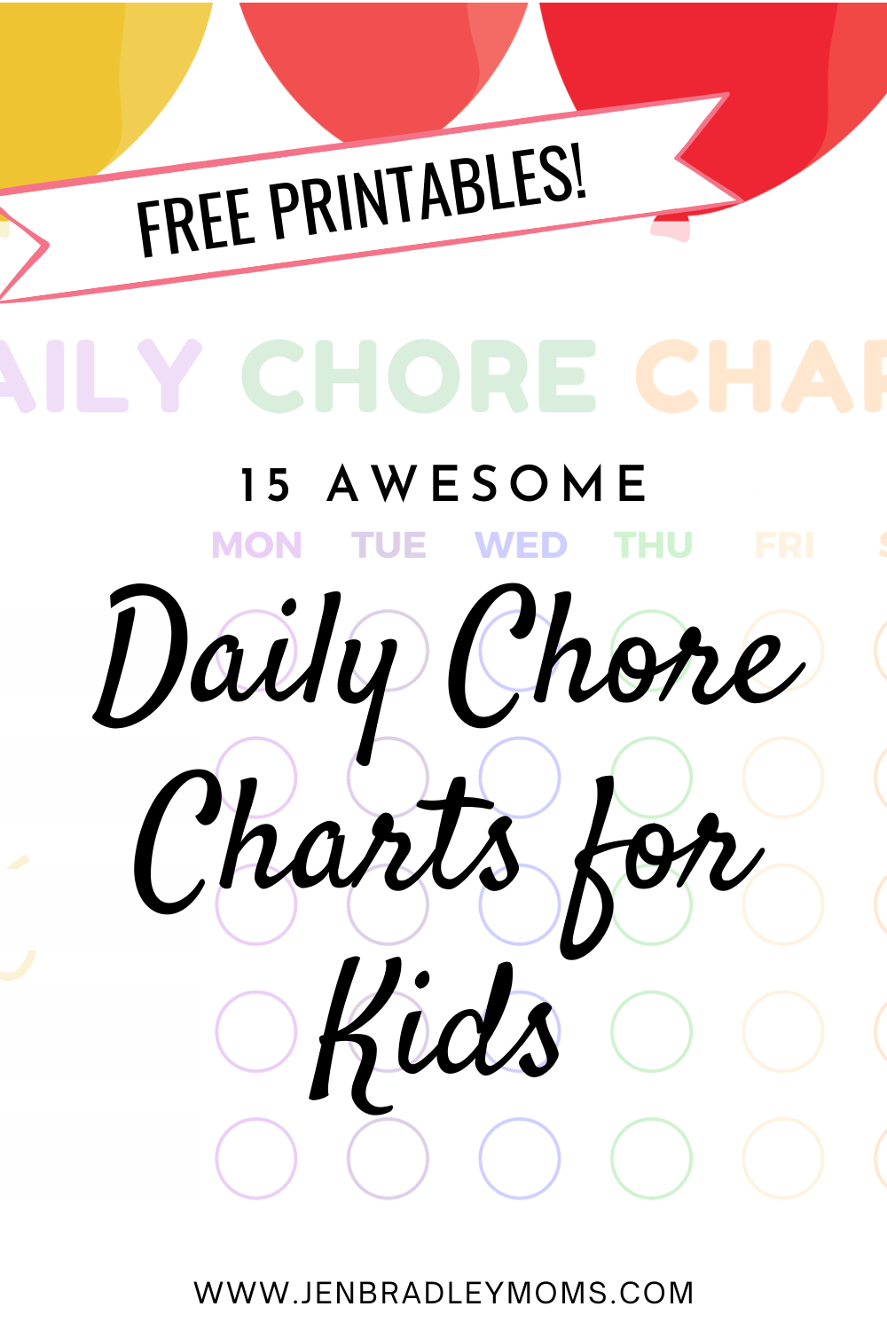 15 Awesome (and Free!) Printable Chore Charts for Kids