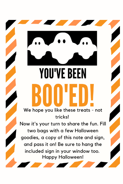 youve been booed ideas printable