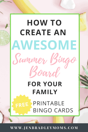 a summer bingo board can be so much fun for your family